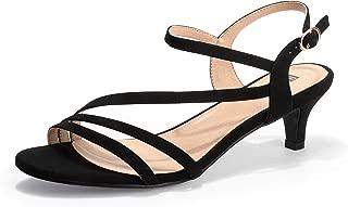 IDIFU Women's Gloria Stylish Heeled Sandals with 2 Inch Low Kitten Heels Open Toe Wedding Bride Dress Shoes