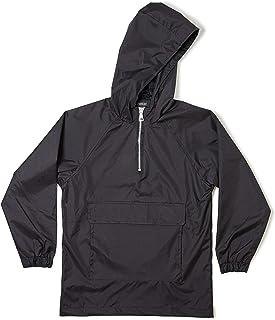 Zak Brand Kids Water Resistant Military Inspired Streetwear Pull Over Zip Up Windproof Anorak Windbreaker Black