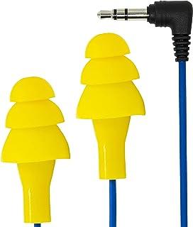Plugfones Basic Earplug-Earbud Hybrid - Noise Reducing Earphones - Yellow