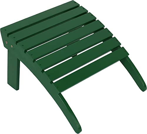 discount Sunnydaze Classic Wooden Outdoor high quality Adirondack Ottoman Footrest, outlet online sale Green outlet sale