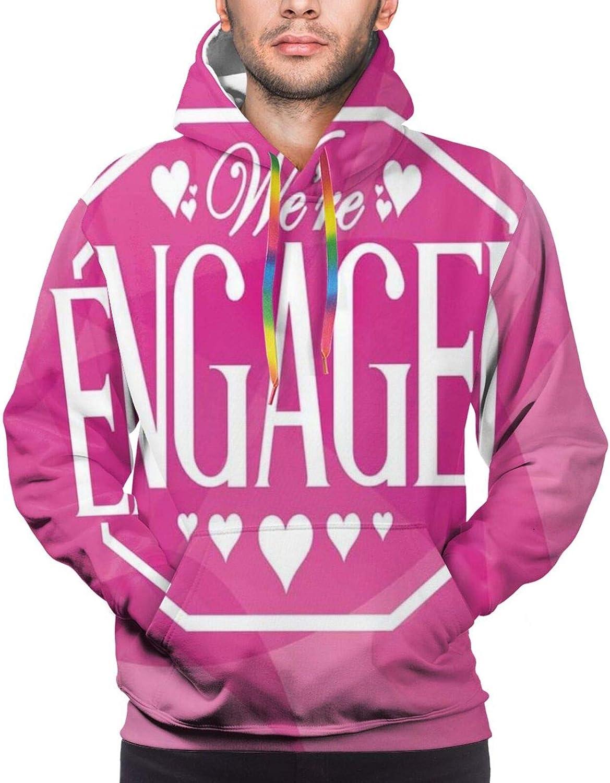 TENJONE Men's Hoodies Sweatshirts,Abstract Celebration Geometric Backdrop Engagement Party Image,Small