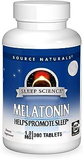 Source Naturals Sleep Science Melatonin 1mg - Safe, Non Habit - 300 Tablets