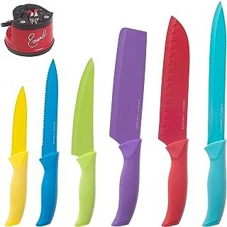 multi colored knife set