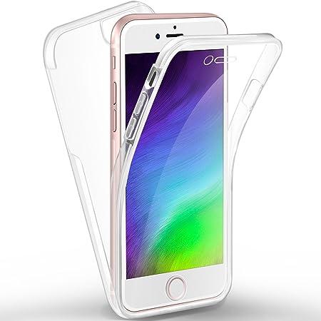 Ivencase Full Protection Anti-Choc iPhone 7 Coque, Ultra Slim Transparent Protection Resistante Souple Avant et Arrière Gel Acrylique et Silicone ...