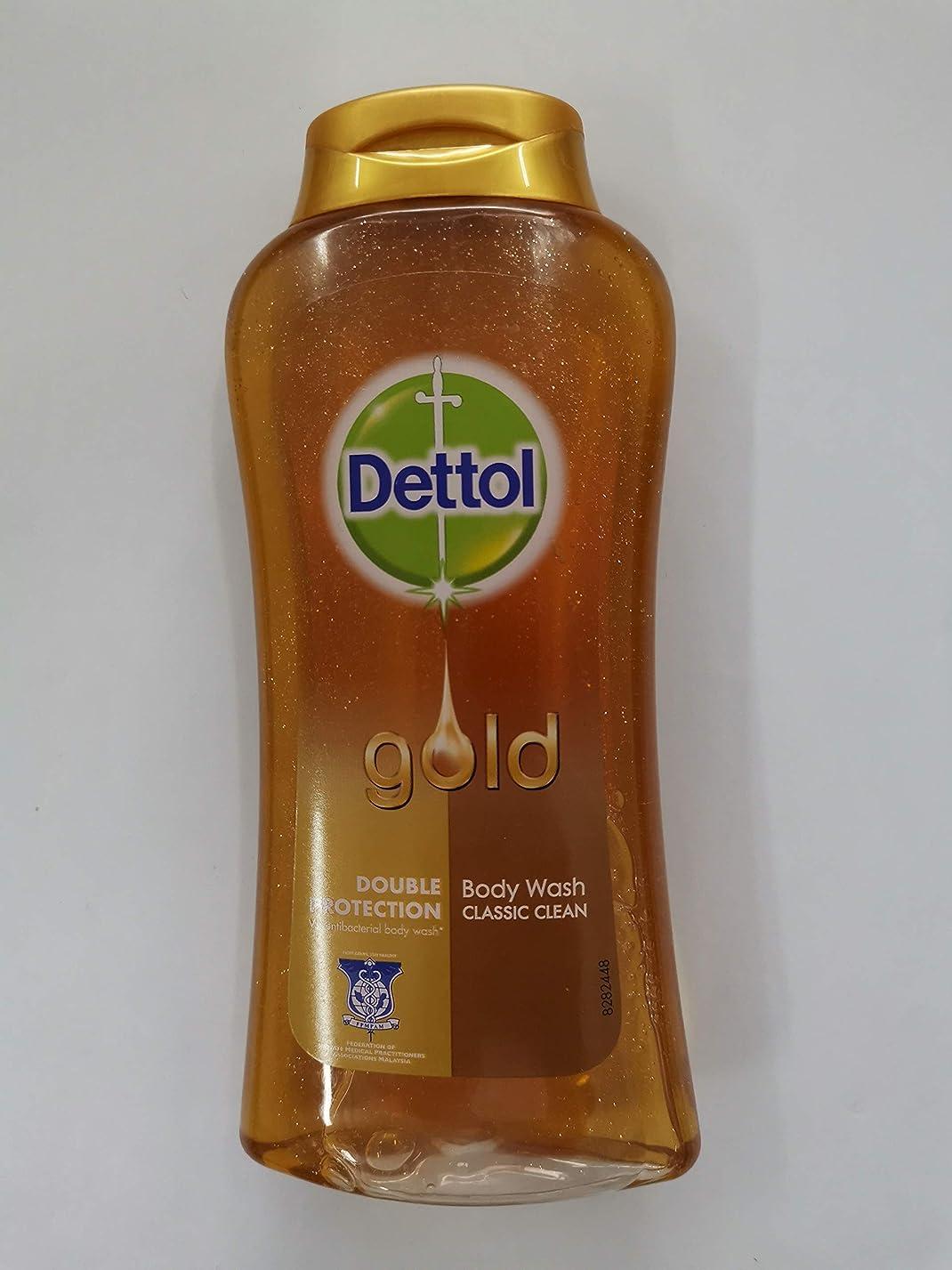 弱いパスタ繊毛Dettol クラシッククリーンボディローション250ミリリットル - 細菌非食用風呂-kills 99.9% - 毎日の細菌を防ぎます