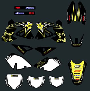 DST0006 Motorcross Graphics Custom Decal Kit for Rockstar 3M for Suzuki DRZ400 DRZ 400 2000 2001 2002 2003-2009 2010 2011 2012