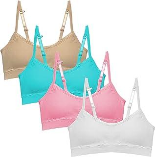 Girls Training Bra Pack – Crop Cami Training Bras for...