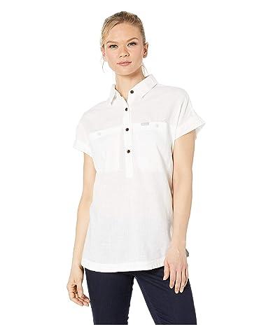 Columbia Pinnacle Peaktm Popover Shirt (White Chambray) Women