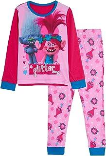 Trolls Ragazze 2 Pigiama Corto Bambini Poppy World Tour Shortie Pjs Set T-Shirt e Pantaloncini