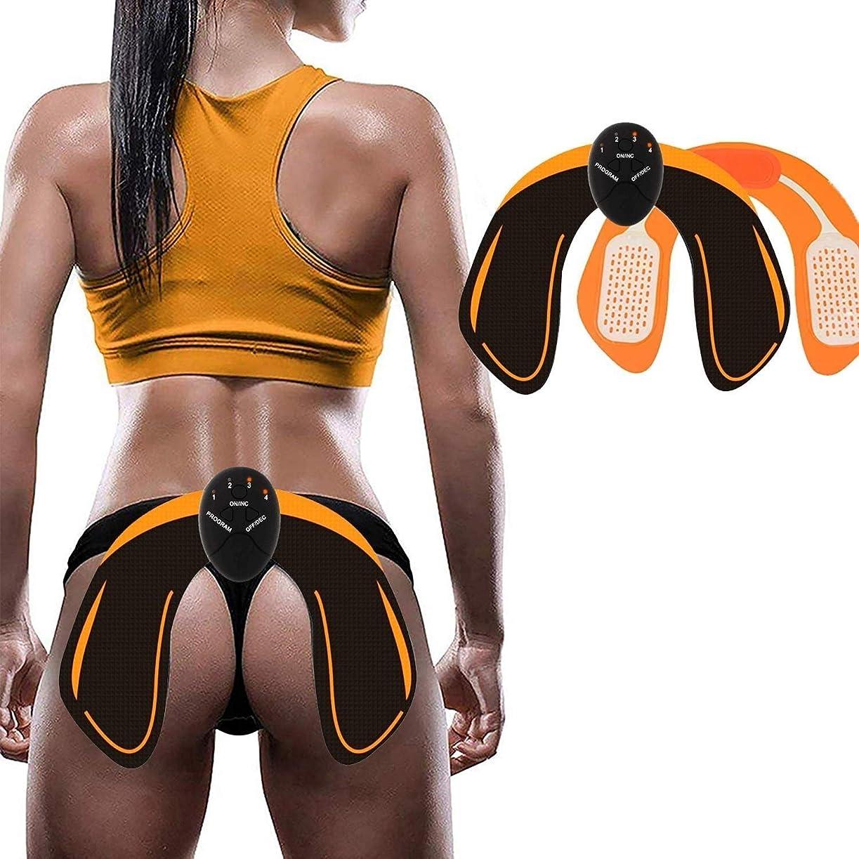 動かす起こる卵EMSヒップトレーナーとバットトナーは、男性女性のためのスマートバトリフターリフターバトシェイパーパッドトレーニングコントロールスマートトナートレーニングギアを持ち上げるのに役立ちます (Size : Host+hip stickers)