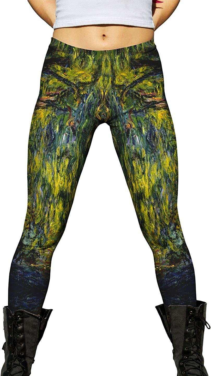 Yizzam- Monet NEW before selling ☆ Opening large release sale -Weeping Willow 1918 Ladies Leggings Womens -New