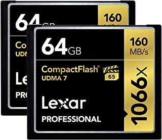Lexar Professional 1066X 64GB (2-Pack) CompactFlash Cards