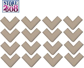 Store2508® Corner Guards for Child Infant Safety with Special Fibreglass Tape with Silicon Adhesive & Instructions (16 Pcs) (Ivory)