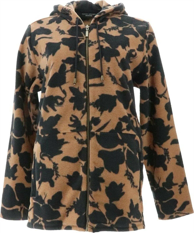 Susan Graver Weekend Printed Polar Fleece Zip Jacket A372462