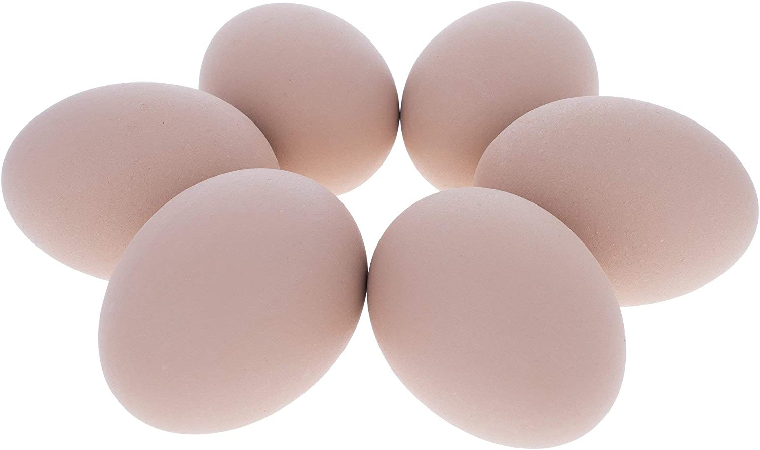 Set of 6 Brown Ceramic Large special Sales price Inches Eggs Chicken 2.3