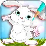 Livre de coloriage de lapin