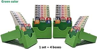 Jranter Bridge Bidding Boxes- Set of Four Premium Bridge Kit Bidding Device Paper Cards Green