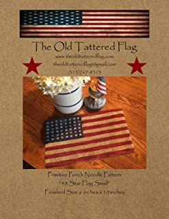 old tattered flag punch needle patterns