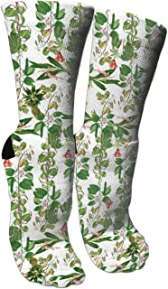 Filipino Ginger Cashews Flowers Funny Crazy 3D Print Colorful Sport Athletic Novelty Casual Ankle Cotton Crew Socks