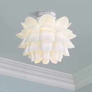 Modern Ceiling Light Flush Mount Fixture White Flower 15 3/4