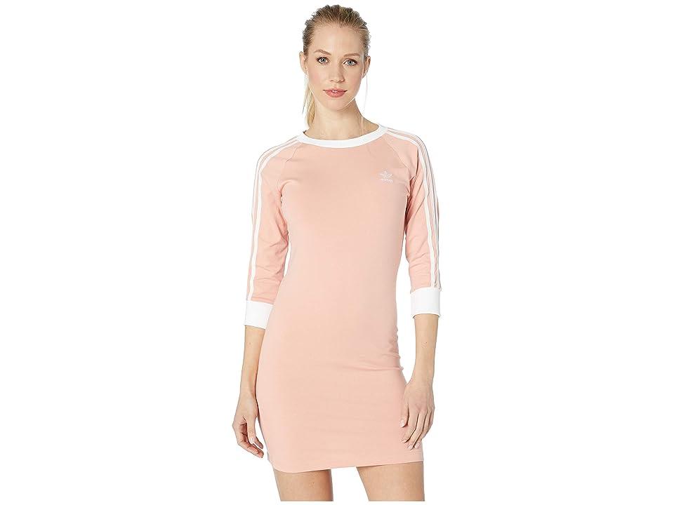 Image of adidas Originals 3-Stripes Dress (Dust Pink) Women's Dress