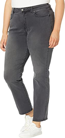 Plus Size Marilyn Straight Jeans in Gilt