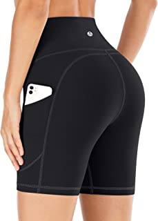 IUGA Yoga Shorts Workout Shorts for Women with Pockets High Waisted Biker Shorts for Women Running Shorts