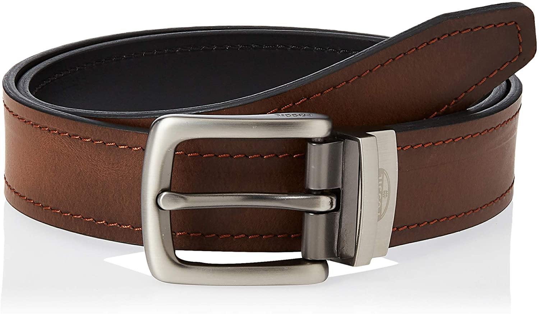 Fossil Men's Reversible Black/Brown Leather Belt