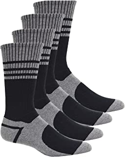 Kodiak Men's Non-Binding Cushioned Steel Toe Work Socks 4 pk