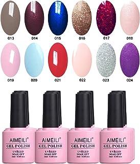 AIMEILI Soak Off UV LED Gel Nail Polish Multicolor/Mix Color/Combo Color Set Of 12pcs X 10ml - Kit Set 4