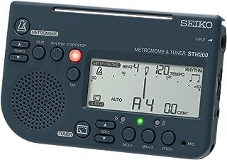 SEIKO セイコー メトロノームチューナー 大音量 譜面台取付可能 吹奏楽部に最適 ブラック STH200B