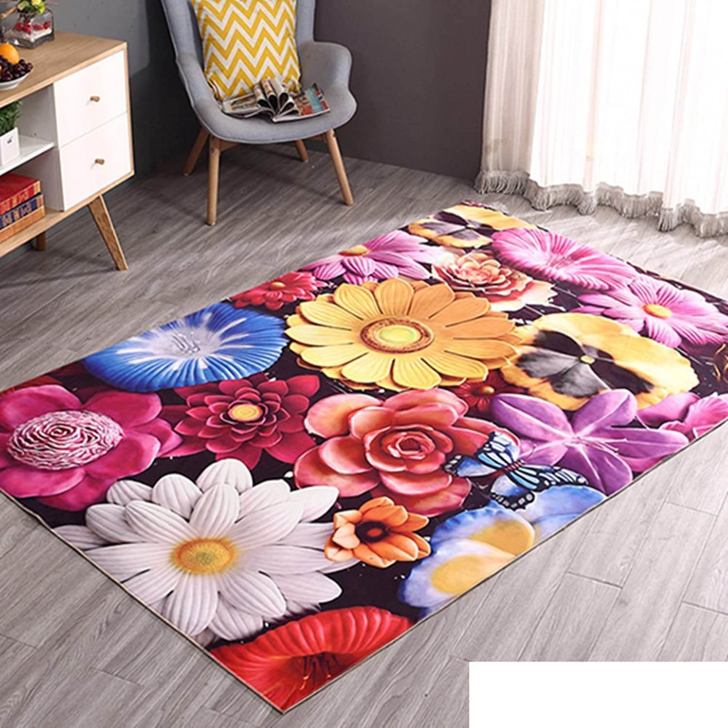 DXG&FX 3d non-slip bedroom carpet living room table door mat rectangular mats for household use-I 120x180cm(47x71inch)