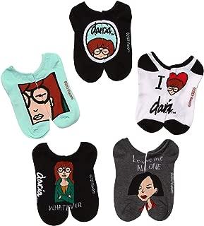MTV Daria No Show Socks Animated TV Show Teen Adult 9-11