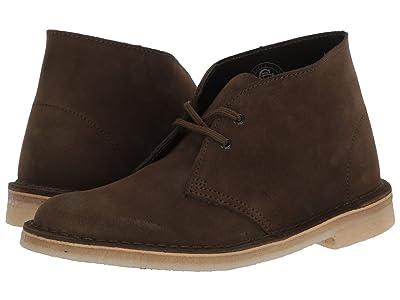 Clarks Desert Boot (Dark Olive Suede) Women