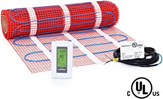 20 Sqft Mat Kit, 120V Electric Radiant Floor Heat Heating System w/ Aube Programmable Floor Sensing Thermostat