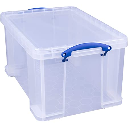 Really Useful Box Boîte à fiche en polypropylène 48 L Transparent
