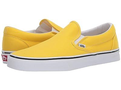 Vans Classic Slip-Ontm (Vibrant Yellow/True White) Skate Shoes