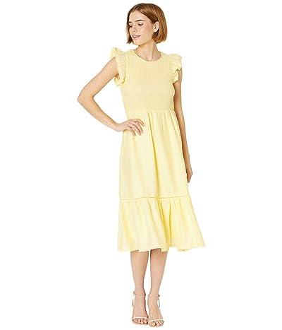 LOST + WANDER Wayfarer Midi Dress (Yellow) Women