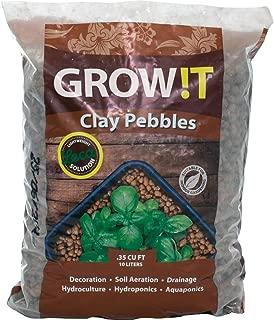 Hydrofarm GMC10L GROWT Clay Pebbles, 10 Liter Bag
