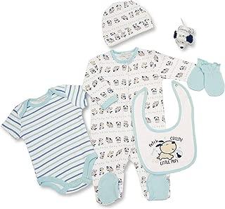 Baby Togs Baby Boys Newborn Dog 3 Piece Short and Bib Set