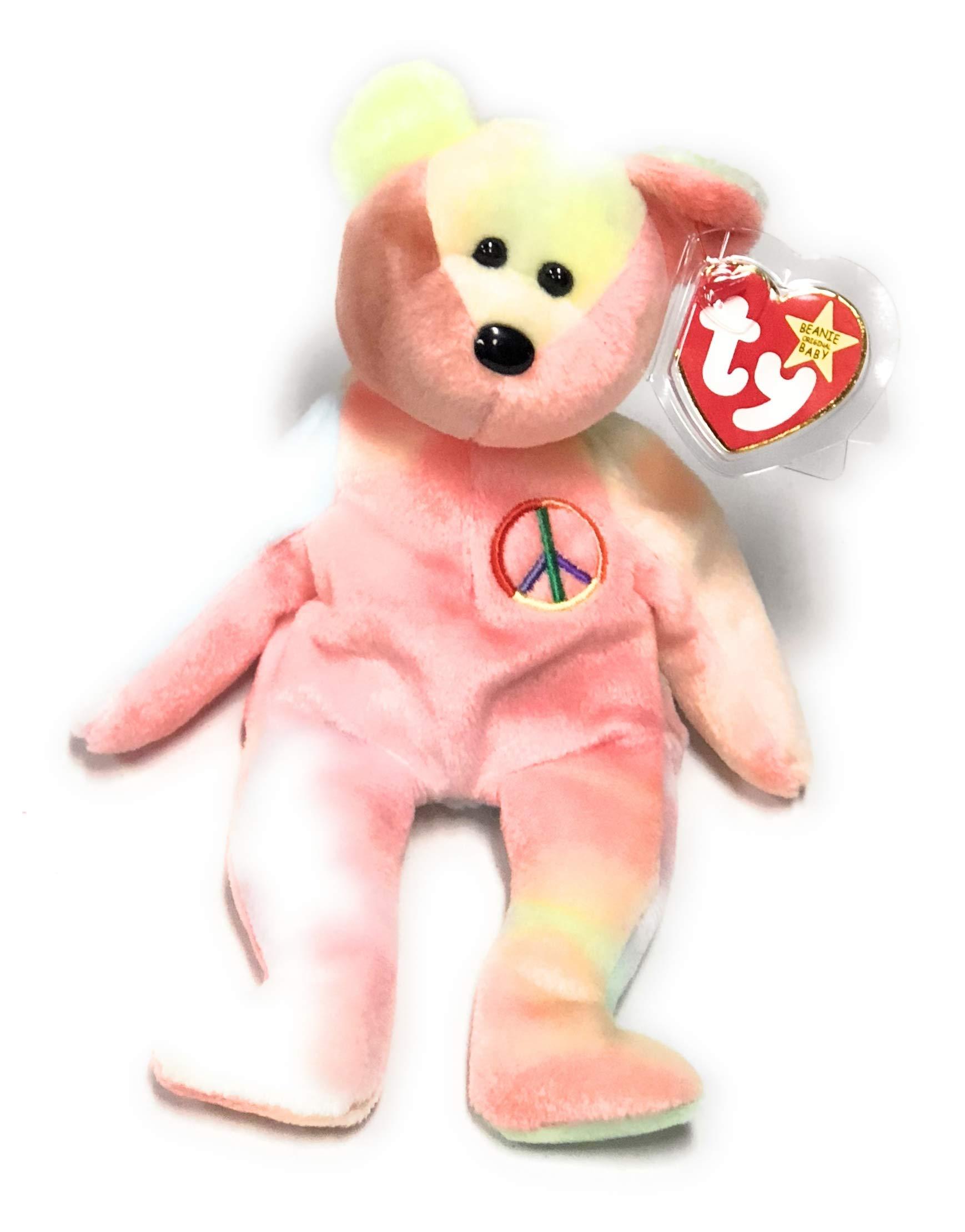 Ty Beanie Buddies Peace Symbol Bear