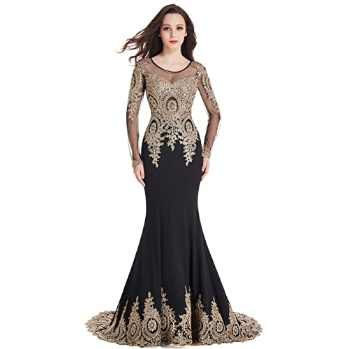 Black Gold Prom Dress: Amazon.com
