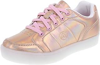 4cdc601411f4 Airwalk Kid s Rose Gold Kids  Jazz Low-Top Light-Up Sneaker Little Kid