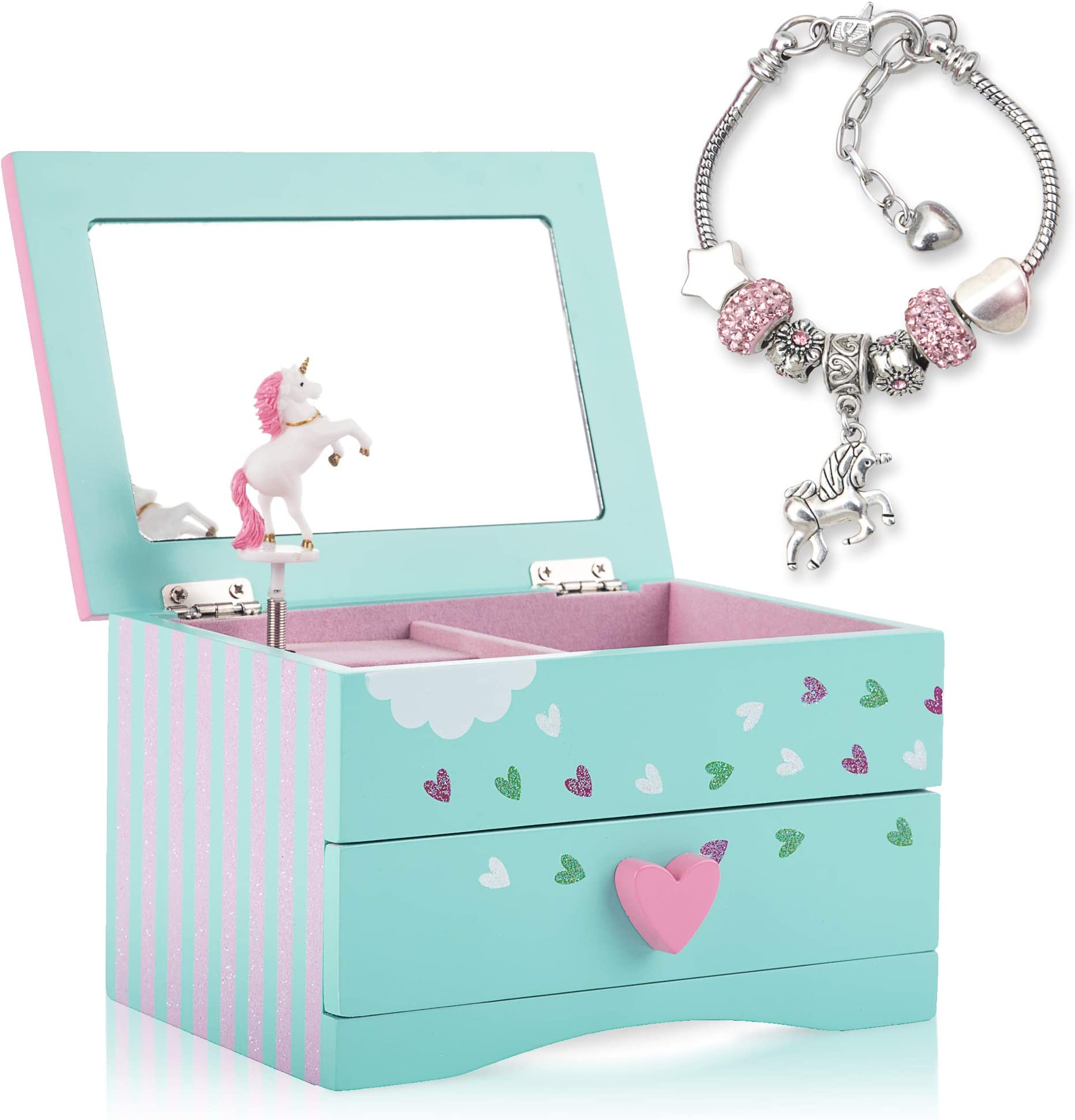 SAVE 25/% J.S.N.Y Earrings Rings and Things Jewelry Box for Kids Children 80s 90s Plastic Cute Storage Box