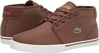 3a638e2a29cd44 Lacoste Men s Ampthill Leather Chukka Mid-Top Fashion Sneakers Shoes
