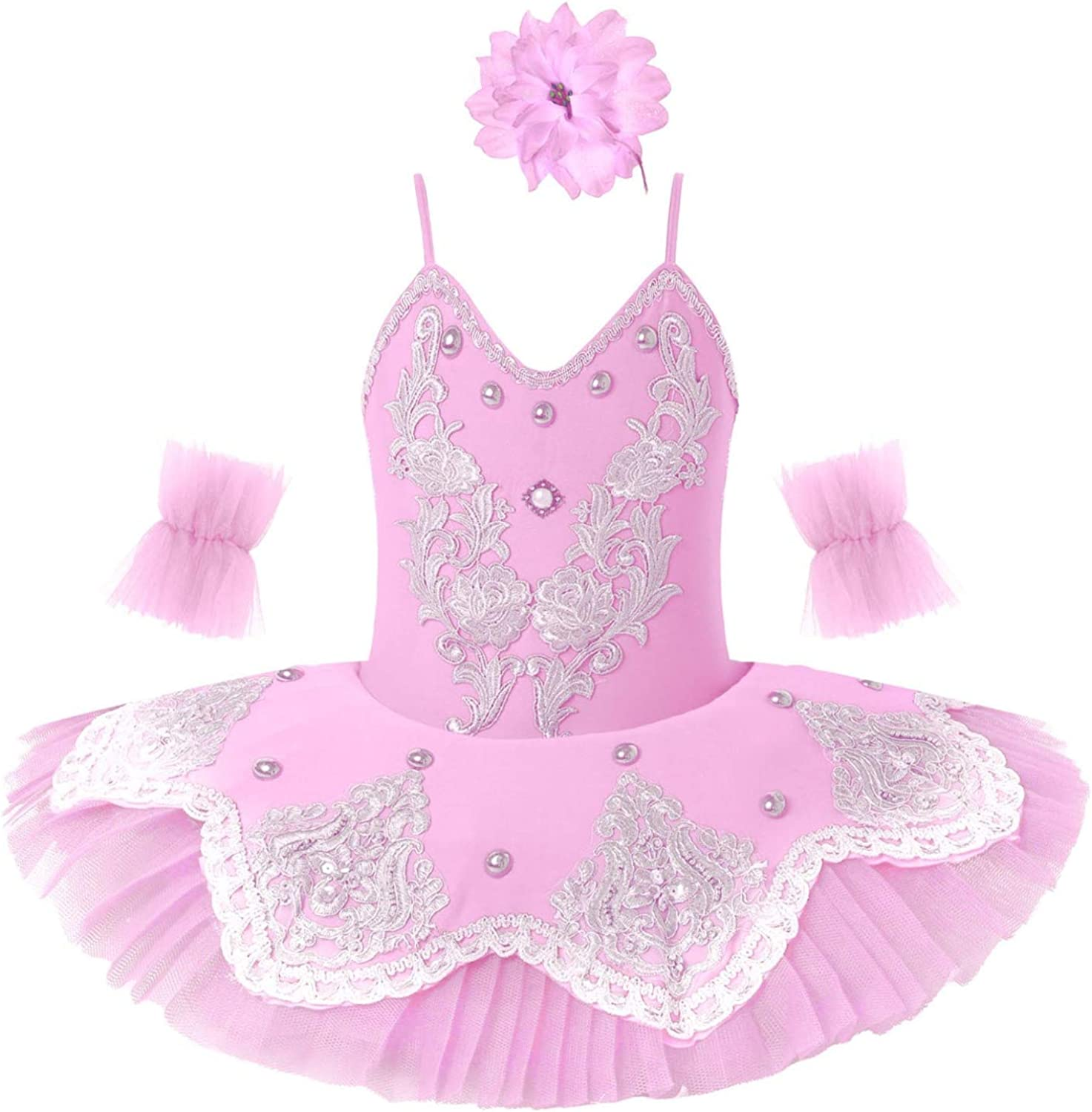 Agoky Kids Girls Sequined shopping Ballet Dance S Spring new work one after another Dress Leotard Tutu Mesh