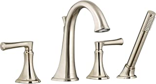 American Standard T722901.295 Estate Deck Mounted Roman Tub Filler with Built-In Diverter - Includes Hand Shower