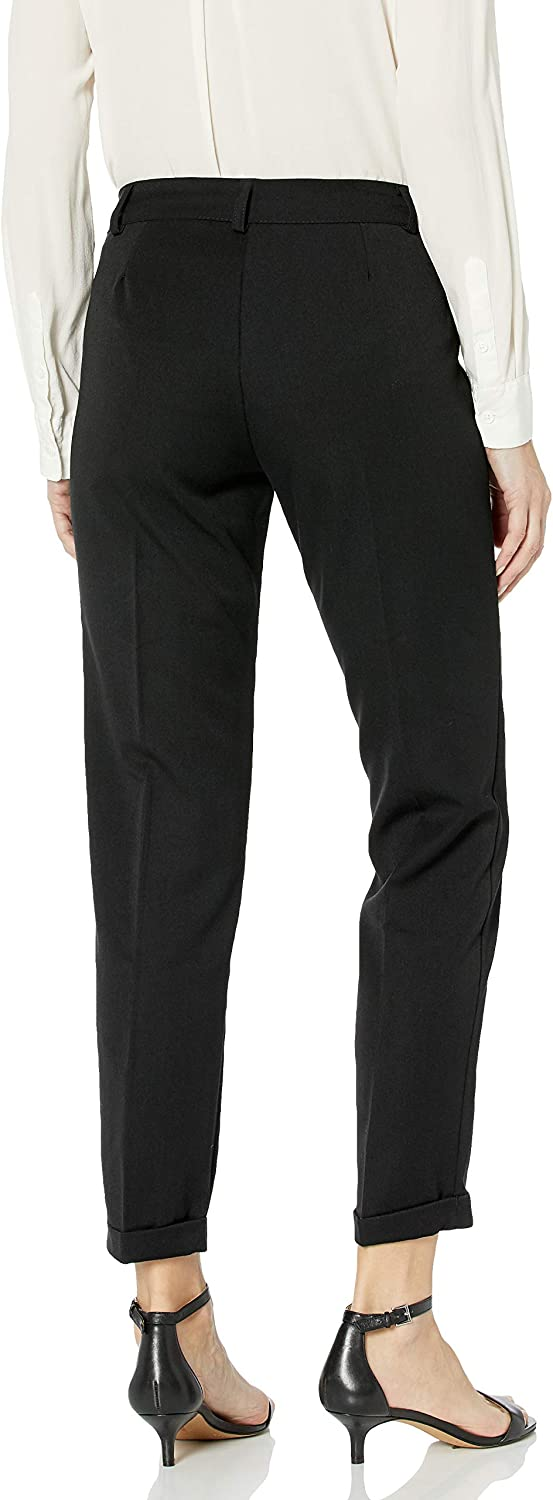 M Made in Italy Women's Slim Tailored Pants with Rolled Cuffs