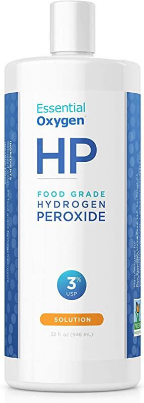 Essential Oxygen Food Grade Hydrogen Peroxide 3 Natural Cleaner Refill 32 Ounce