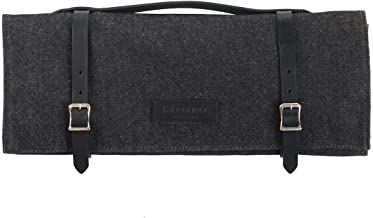 product image for Knife Roll - Waxed Denim - Black - Made in USA
